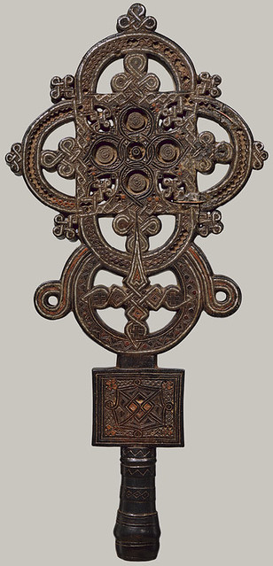 Ethiopia, Tigray region - 1500c. Processional Cross (Metopolitan Museum of Art, wood)