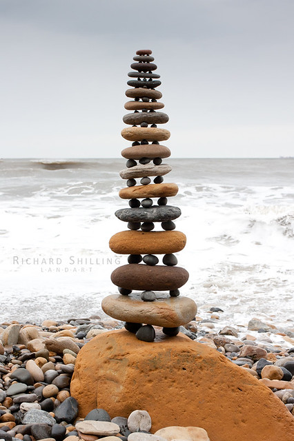 Robin Hood's Bay Pebble Stack