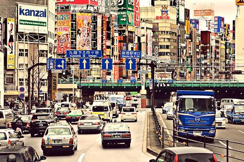 Crowded Shinjuku Street