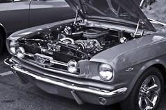automobile, automotive exterior, wheel, vehicle, automotive design, first generation ford mustang, compact car, bumper, ford, antique car, vintage car, land vehicle, muscle car, motor vehicle,