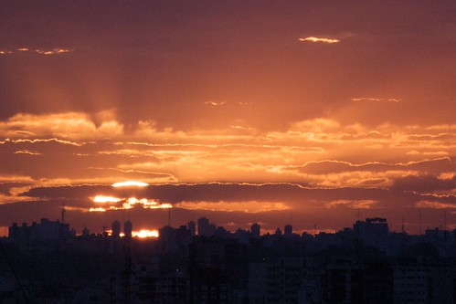 Sun and clouds and rays and Buenos Aires