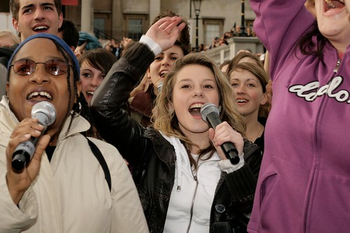 T mobile, Karoke, 30th April 2009 - Trafalgar Square