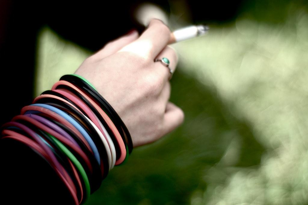 A Colourful cigarette -