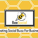 Bee Social Back of Card Design