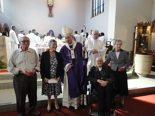 Mass at St Teresa's, Morden, and the giving of 3 Diocean awards and a Papal award