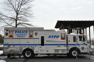 Picture Of NYC Police Emergency Services (ESU) Truck Taken At The US Airways Flight 1549 Recovery At Battery Park City In New York City. Photo Was taken On Sunday January 18, 2009