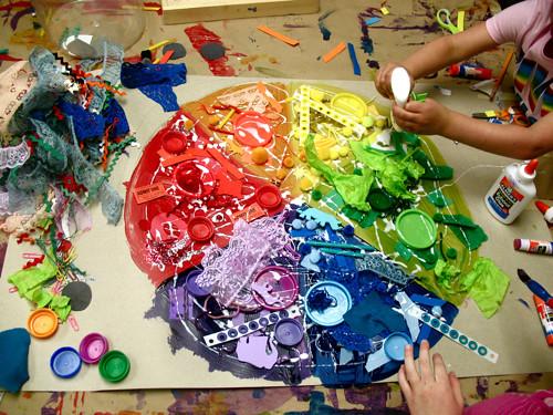 C is for color wheel preschool daze for Color collage ideas