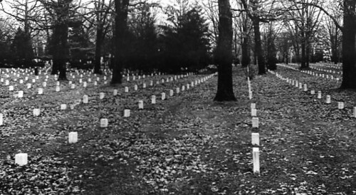 View of graves in the Civil War section of Arlington National Cemetery