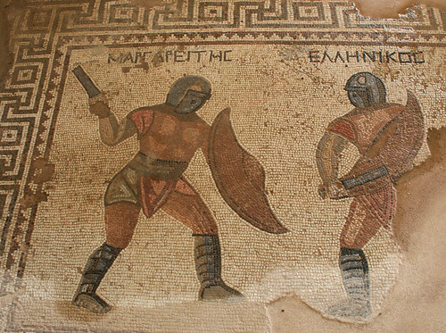 Cyprus, Episkopi, Kourion, Curium, House of the Gladiators, Mosaic