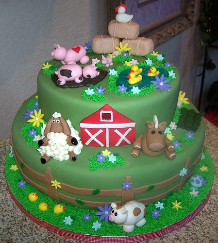Cake Decorations Farm Animals : Farm Animals birthday cake decorating - Birthday Cakes