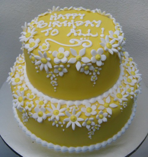 yellow cake, white blossoms. | Flickr - Photo Sharing!