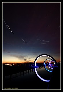 Celestial Spin - The Falkirk Wheel v.2 Gloaming Towards Night.