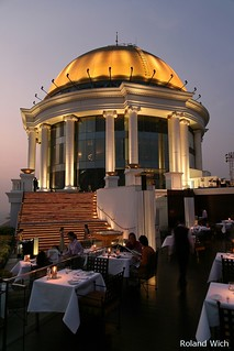 Bangkok - State Tower Dome and Sirocco Restaurant