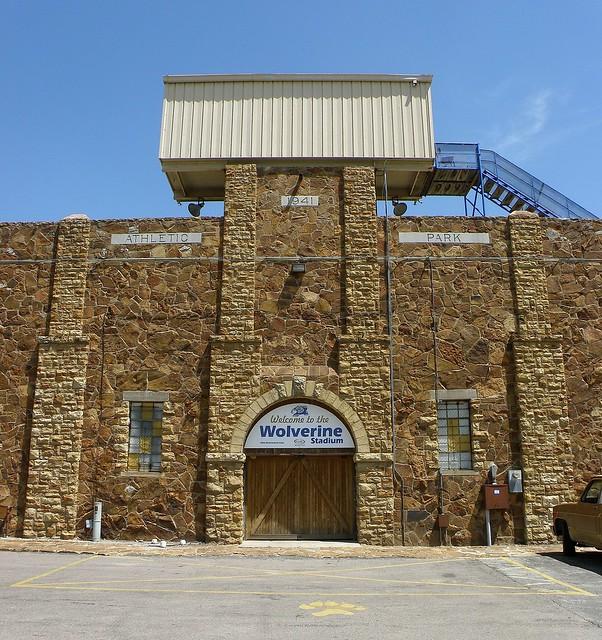 Stadium portal, Holdenville, OK