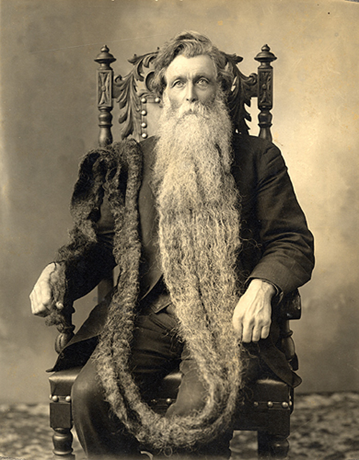 bearded gentleman with an extremely long, matted beard