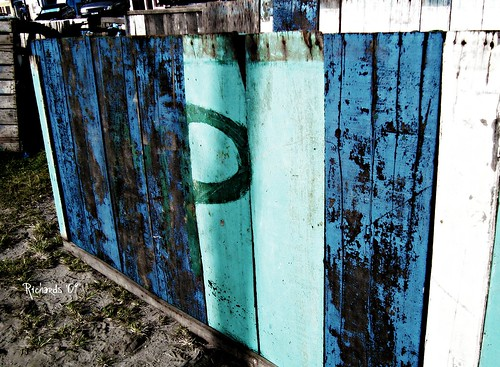 The painted fence