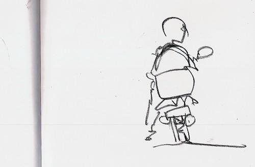 en la moto; Madrid