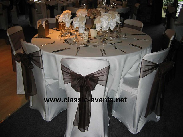 Wedding reception decoration at Nizels Golf Club Sevenoaks Chair Covers