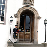 Blair Castle - Bagpiper