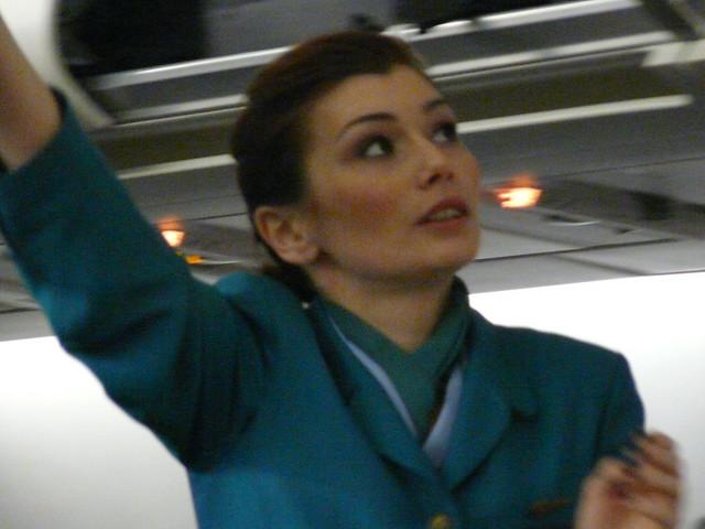 a redheaded aer lingus flight attendant flickr photo