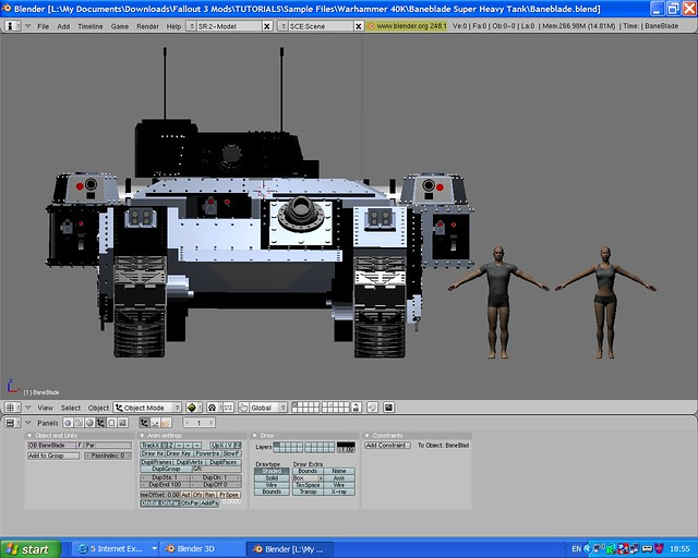 Baneblade 5X scale in blender | Fallout people to Right Bane… | Flickr