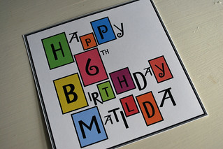 happy happy b-day card