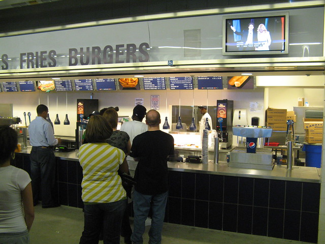Yankee Stadium Concession Stand Line During The Joel Ostee