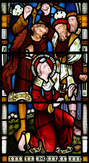 St Stephen is stoned to death