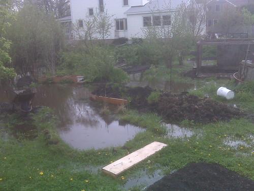 Extreme garden flood