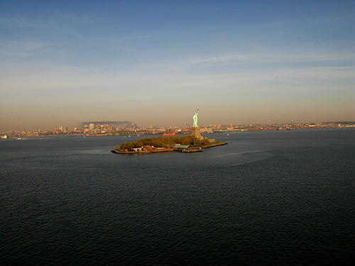 Picture from a Kite Over New York Harbor