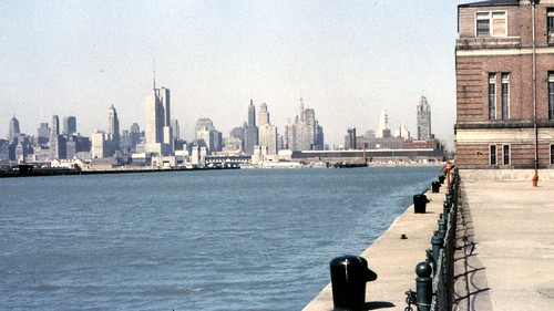 view of Chicago from Navy Pier in 1958