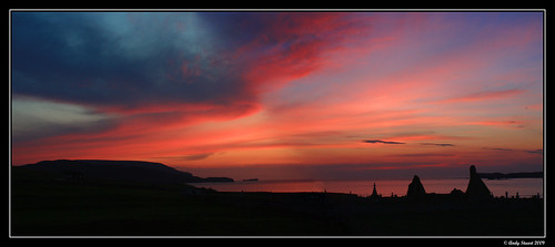 sunset red sea cloud color colour bay coast scotland highlands ruin sutherland durness kirk digitalcameraclub balnakiel balnakielbeach scrumsrus andystuart balnakielbay balnakielkirk