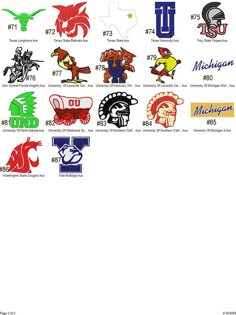College logo embroidery designs downloads