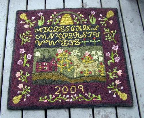 Susan's sampler rug (2)