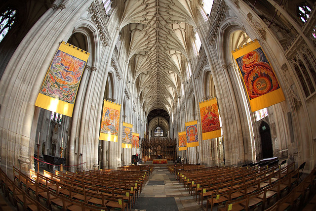 Winchester Cathedral fisheye