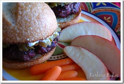 Barbara Bakes: Green Chile Pepper & Cream Cheese Burger | Flickr ...