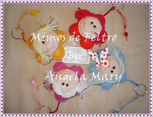 Meninas flores by ♥ Mimos de Feltro by Angela Mary® ♥