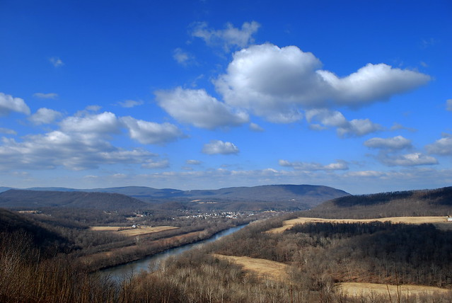 Potomac River and The Town Of Great Cacapon
