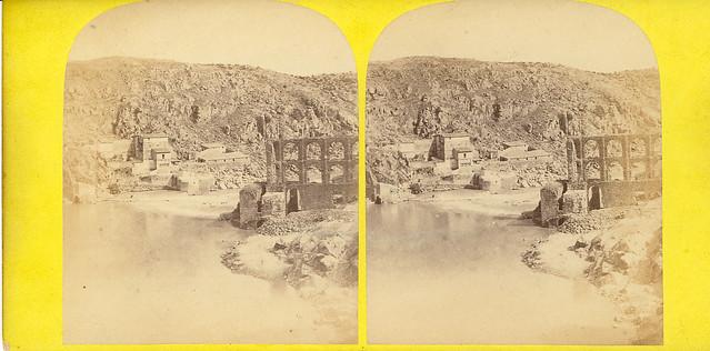 Fotografía estereoscópica de Toledo. Artificio de Juanelo por Ernest Lamy en 1863