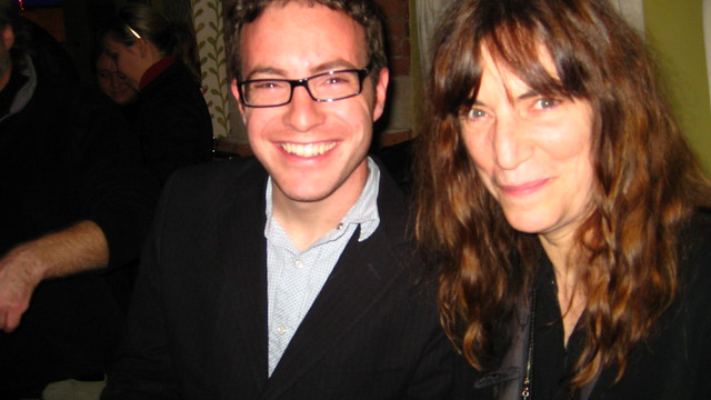 Me and Patti Smith, after R.E.M.'s last ever performance as a band. For one song.