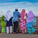 Colorful Muslim Family