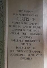 Gertrude Bell memorial window, East Rounton