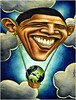 Barack Obama, Save Our Planet by Ben Heine
