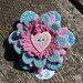 Petite felt flower brooch summer set