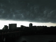 storm, cloud, evening, monochrome photography, skyline, darkness, black-and-white, sky,