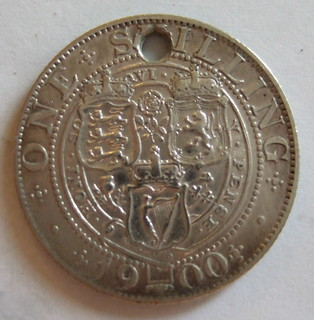 GREAT BRITAIN, VICTORIA 1900 ---SHILLING a