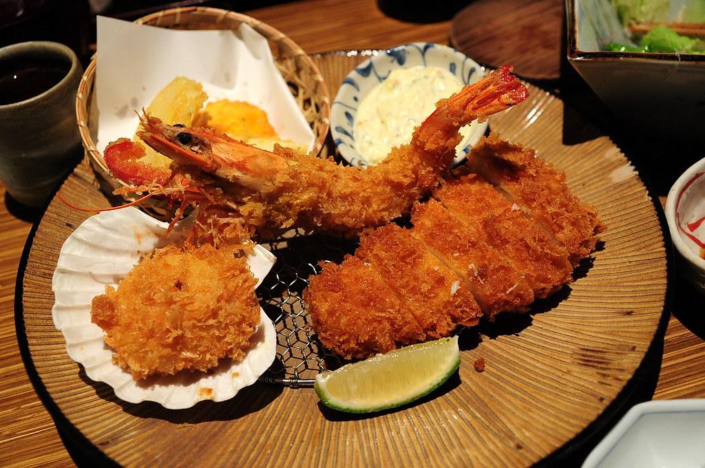 杏子豬排-特選海鮮總匯套餐