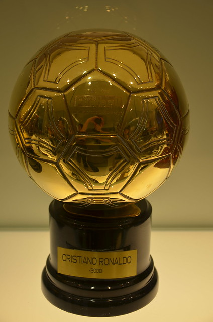 Cristiano Ronaldo's 2008 European Player Of The Year award - the Ballon d'Or