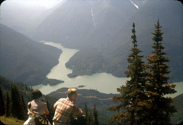 Diablo Lake from Sourdough, circa 1950s
