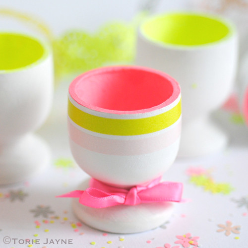 Neon egg cups step 3